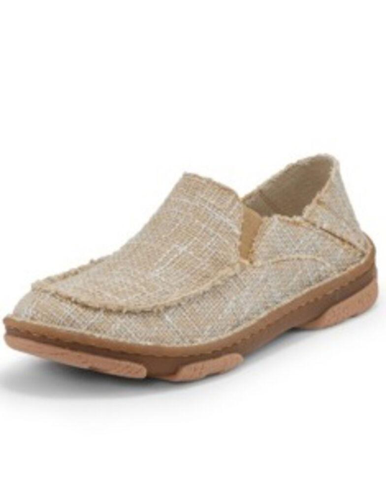 Tony Lama Women's Moccsi Blue Galaxy Shoes - Moc Toe, Tan, hi-res