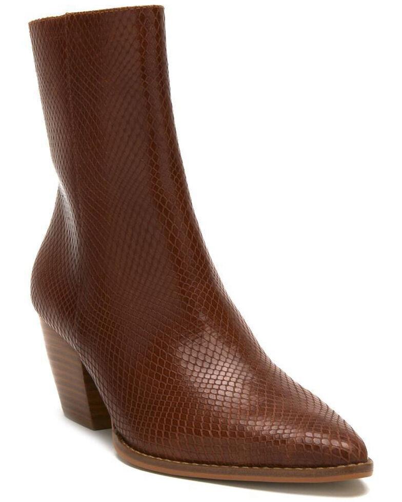 Matisse Women's Caty Fashion Booties - Round Toe, Dark Brown, hi-res