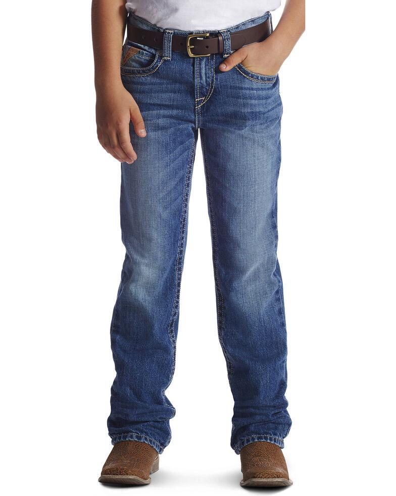 Ariat Boys' Blue B4 Relaxed Fit Boundary Dakota Jeans - Boot Cut , Blue, hi-res