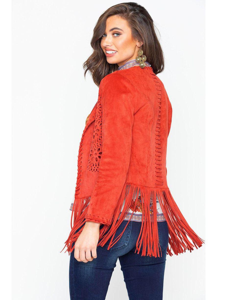 Ariat Women's Fireside Faux Suede Jacket, Russett, hi-res