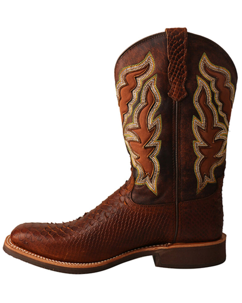 Twisted X Women's Brandy Python Print Western Boots - Wide Squre Toe, , hi-res