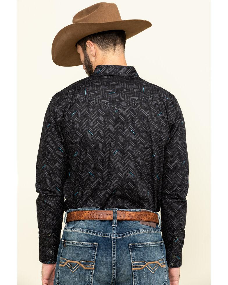 Cody James Men's Mesa Ridge Aztec Print Long Sleeve Western Shirt , Black, hi-res