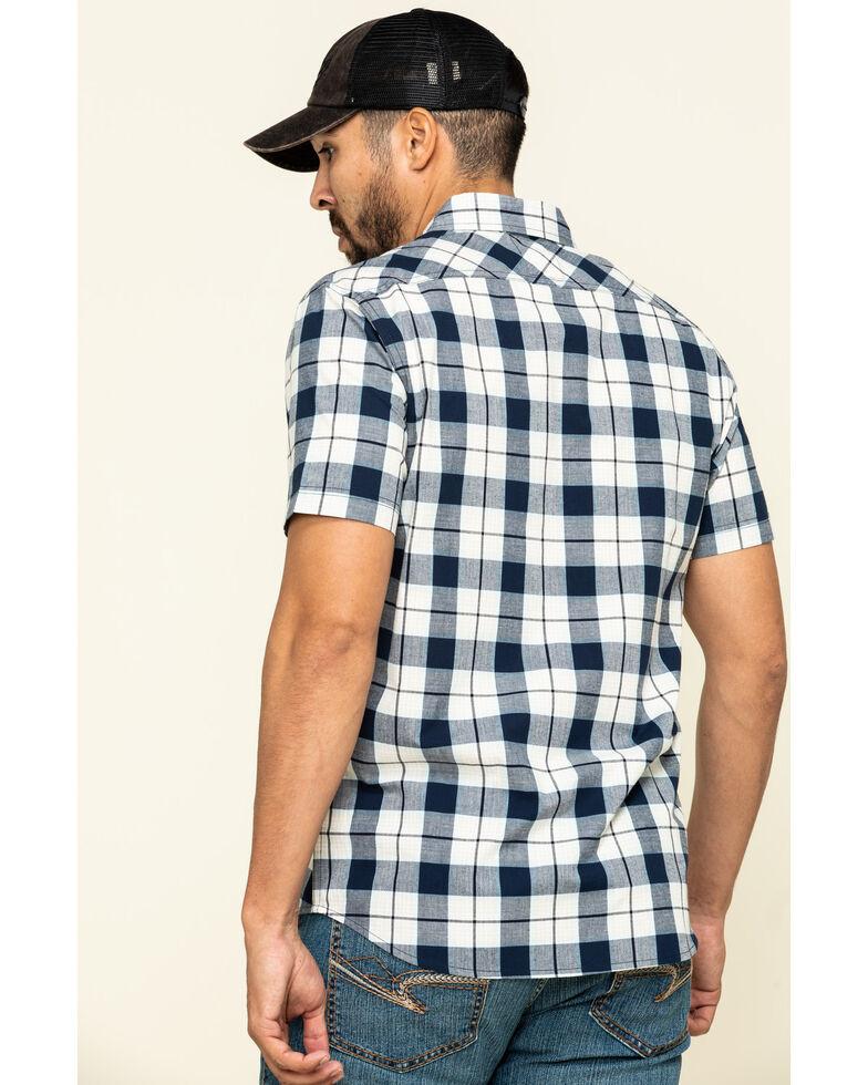 Levis' Men's Blue Multi Knox Plaid Short Sleeve Western Shirt , Multi, hi-res