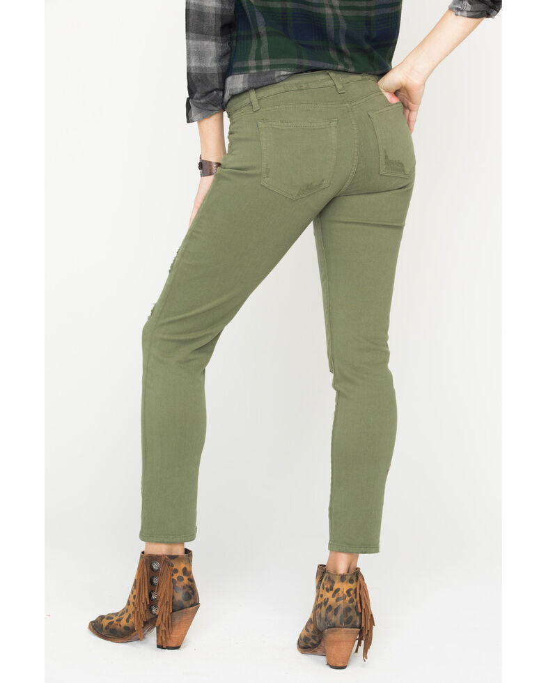 MM Vintage Women's Cassie Easy Straight Jeans, Green, hi-res