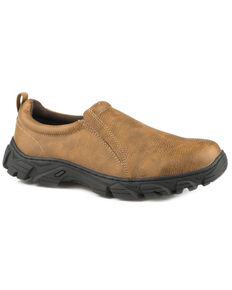 Roper Men's Tan Cotter Faux Leather Shoes , Tan, hi-res