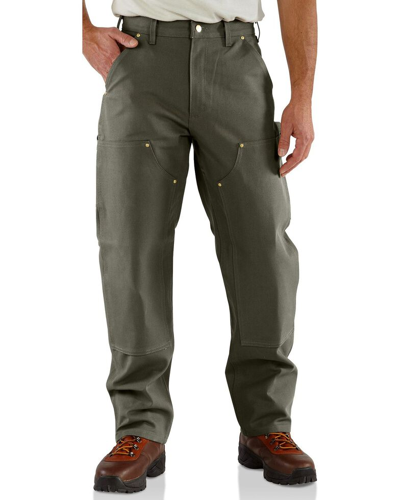 Carhartt Men's Double-Front Work Dungaree, Moss, hi-res