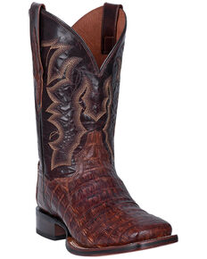 Dan Post Men's Kingsly Western Boots - Wide Square Toe, Brown, hi-res
