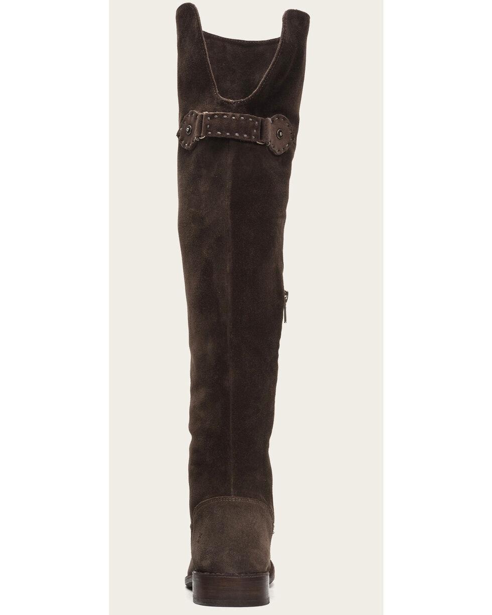 Frye Women's Smoke Suede Shirley OTK Boots - Round Toe , Grey, hi-res