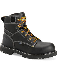 "Carolina Men's 6"" Waterproof Composite Toe Work Boots, Black, hi-res"