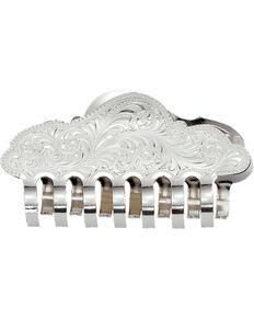 Montana Silversmiths Women's Silver Hair Clip, Silver, hi-res