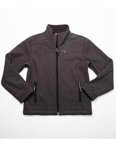 Roper Boys' Hi Tech Contrast Fleece Jacket , Grey, hi-res