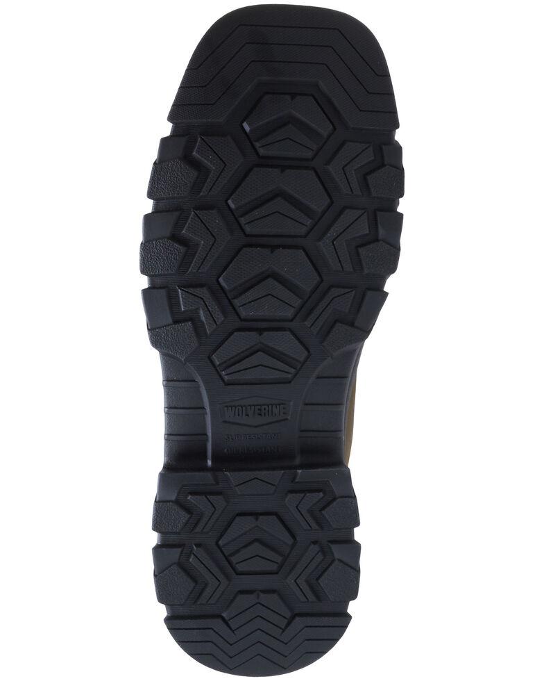 Wolverine Men's Ranch King Western Work Boots - Composite Toe, Brown, hi-res
