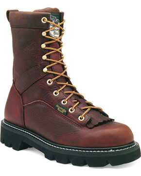 Georgia Men's Wild Bull Heritage Work Boots, Copper, hi-res