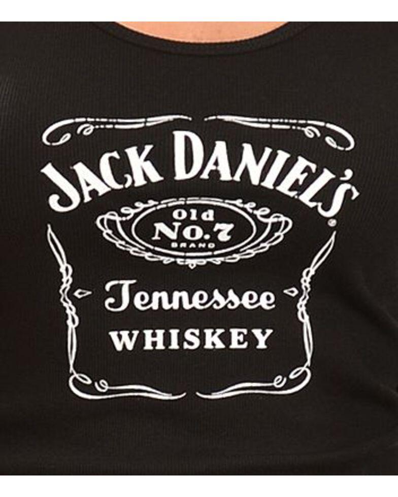 Jack Daniel's Women's Label Tank Top, Black, hi-res