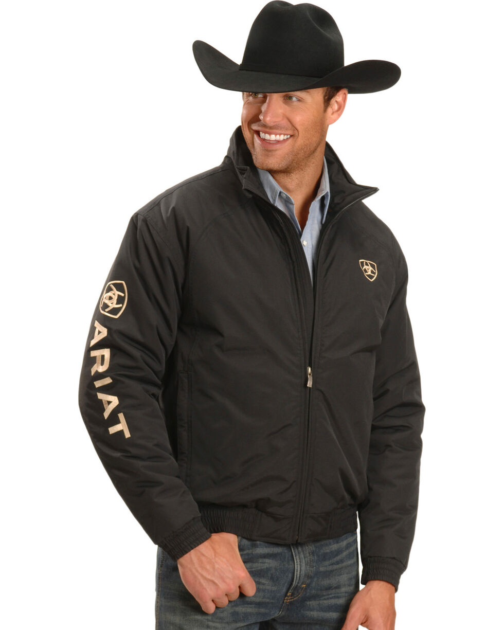 Ariat Men's Team Jacket, Black, hi-res