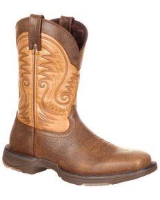 Durango Men's Ultralite Western Boots - Square Toe, Brown, hi-res