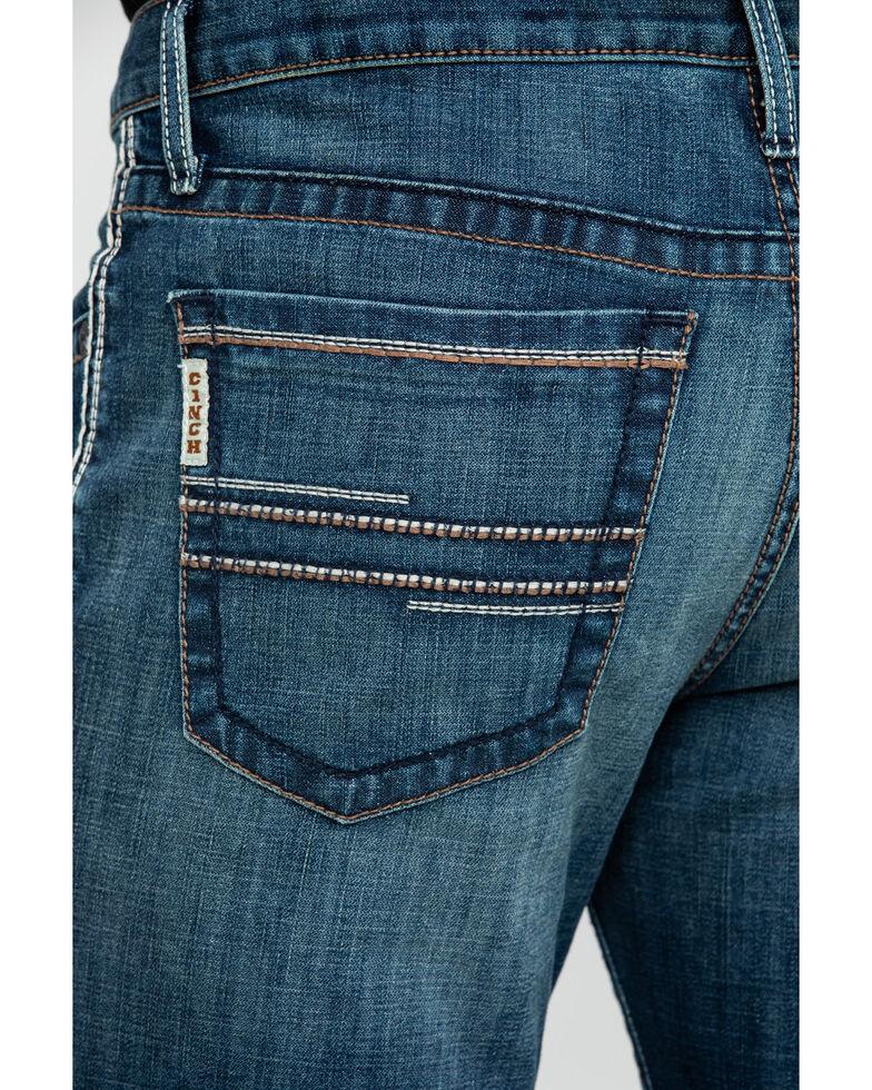 Cinch Men's Ian Dark Stone Slim Bootcut Jeans , Indigo, hi-res