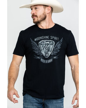Moonshine Spirit Men's Pick & Grin Graphic T-Shirt , Black, hi-res