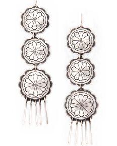 Double D Ranch Women's Standing Rock Earrings, Silver, hi-res