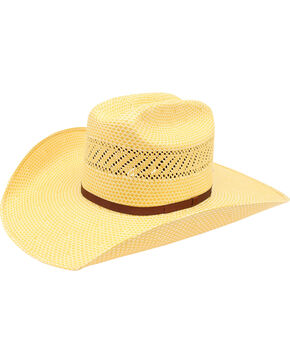 Ariat 20X Americana Straw Cowboy Hat  , Natural, hi-res