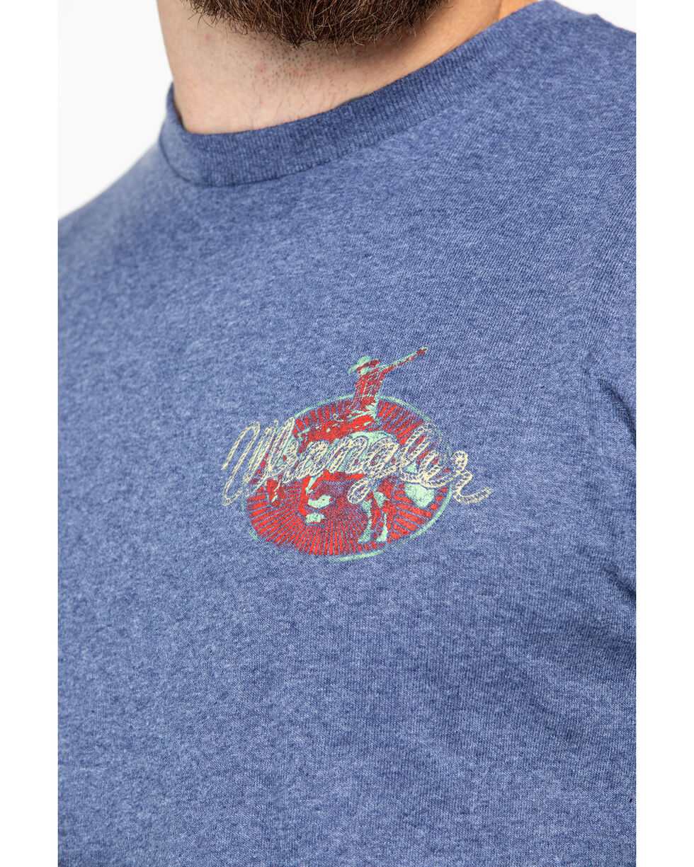 Wrangler Men's Long Cowboys Live Graphic T-Shirt, Blue, hi-res