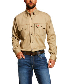 dfff19087767 Ariat Men s FR Solid Vent Long Sleeve Work Shirt