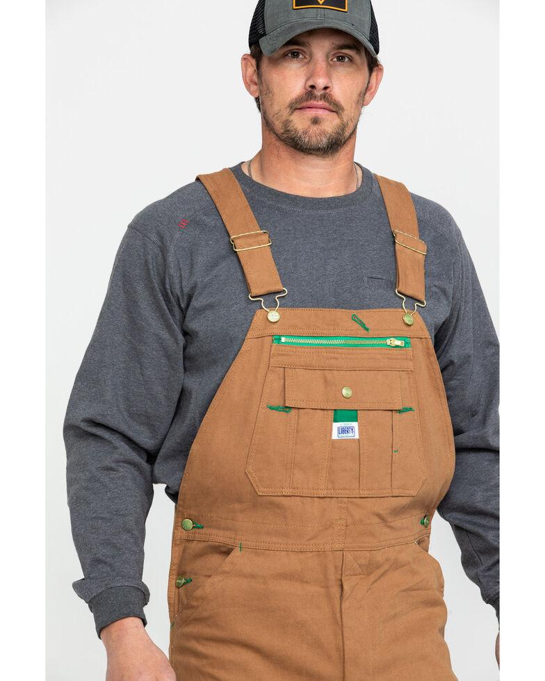 Liberty Men's Duck Bib Work Overalls , Pecan, hi-res