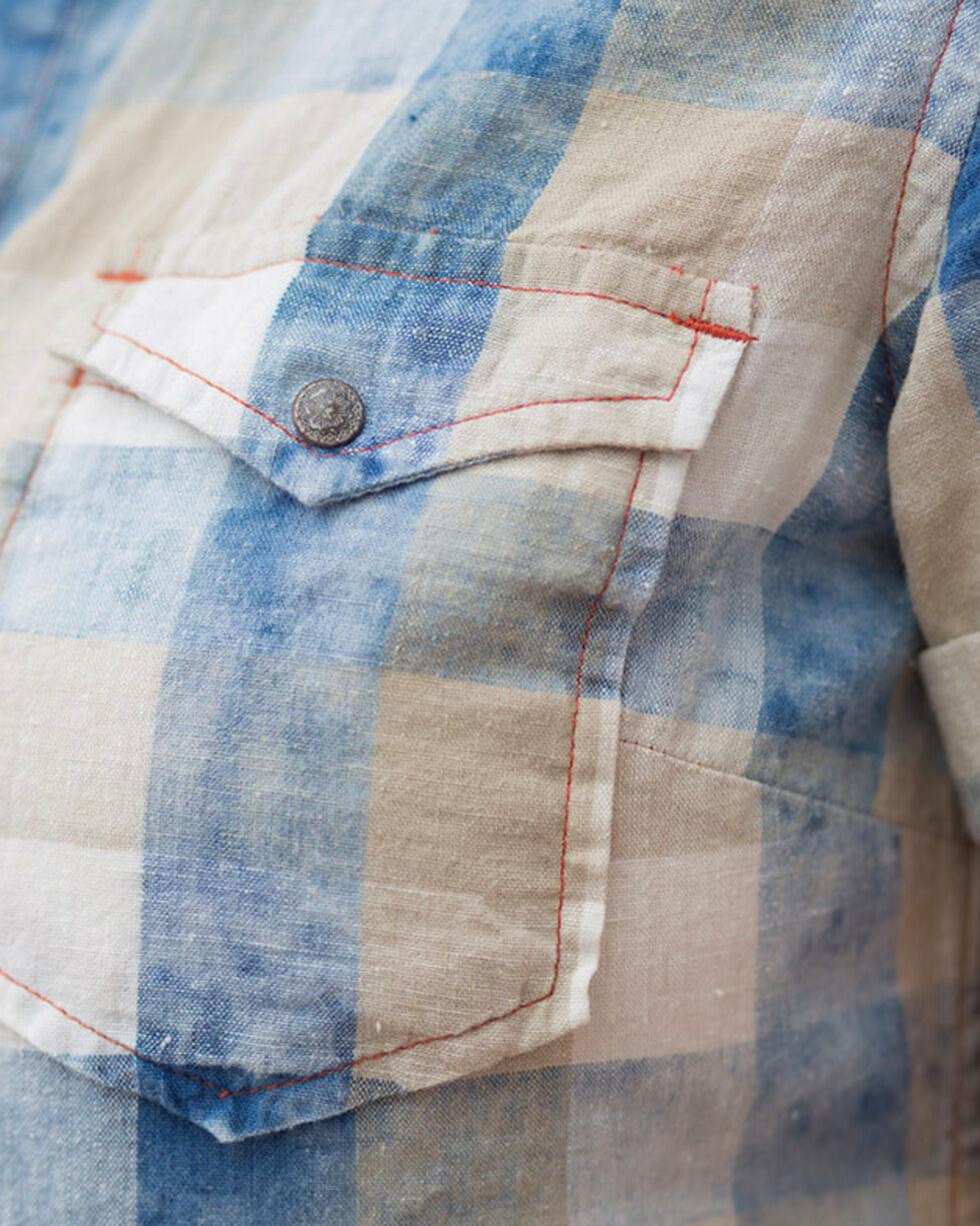 Ryan Michael Women's Indigo Buffalo Plaid Shirt , Indigo, hi-res