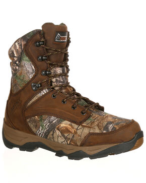 Rocky Men's Retraction Waterproof Insulated Outdoor Boots - Round Toe, Camouflage, hi-res