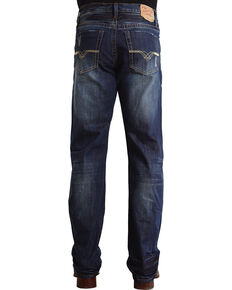 Stetson Men's Modern Fit Boot Cut Jeans, Dark Stone, hi-res