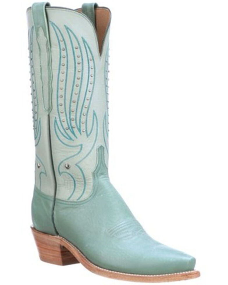 Lucchese Women's Blue Camilla Western Boots - Snip Toe, Blue, hi-res