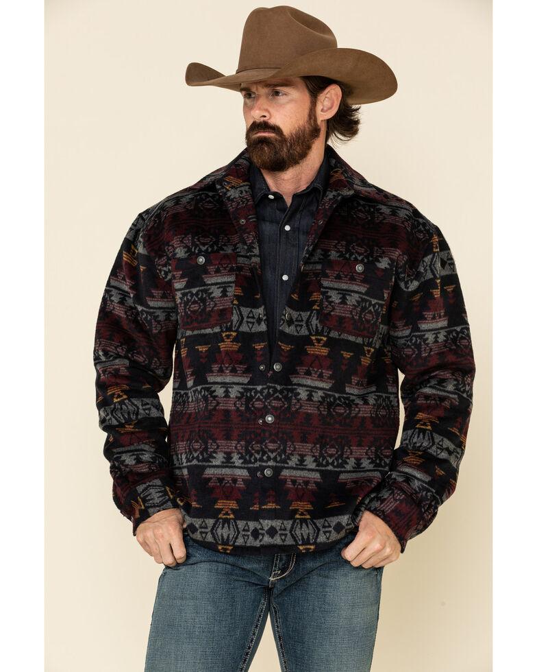 Outback Trading Co. Men's Navy Aztec Hudson Shirt Jacket , Navy, hi-res