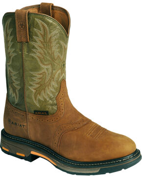 Ariat Men's Workhog Composite Toe Work Boots, Bark, hi-res