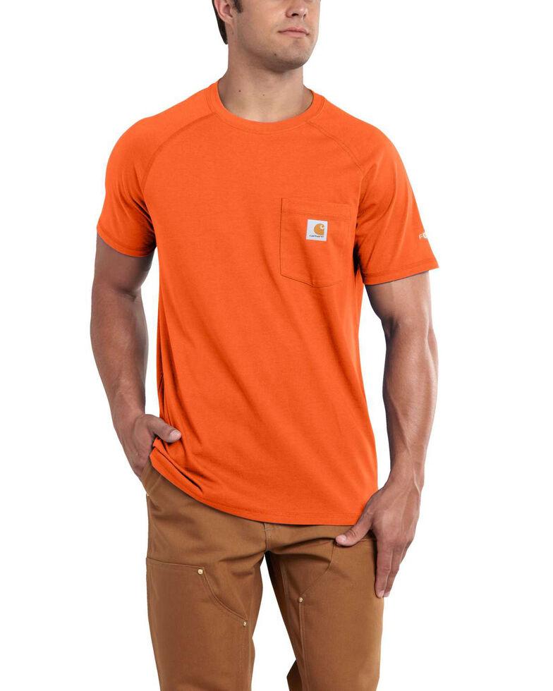 Carhartt Men's Short Sleeve Force T-Shirt, Orange, hi-res