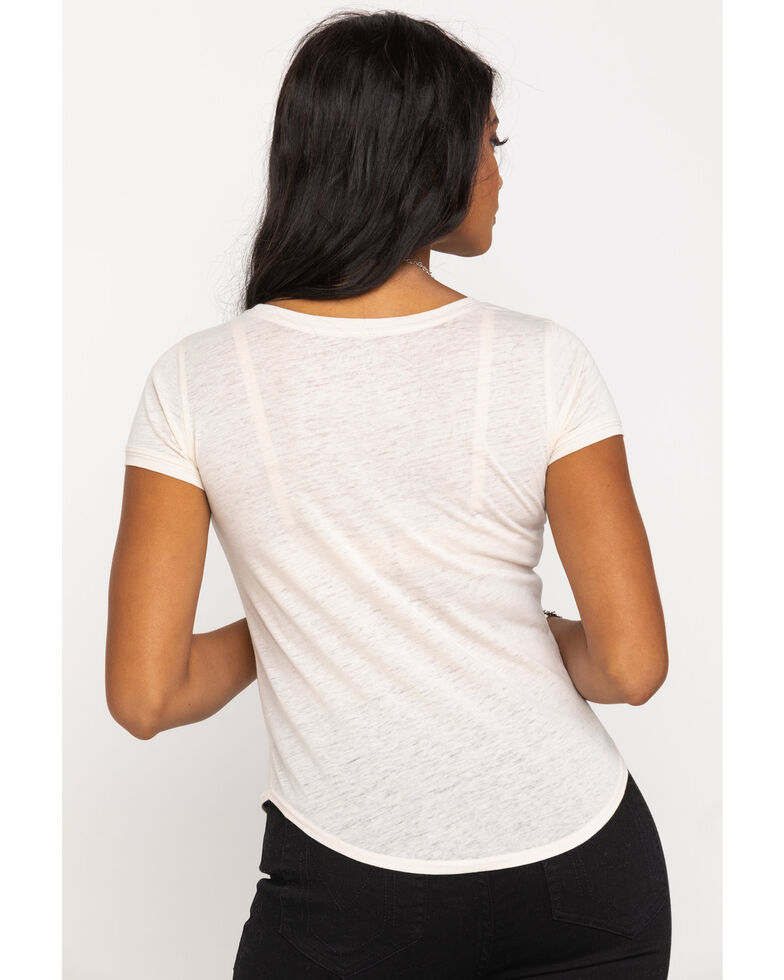 Shyanne Women's Tan Whiskey & Sequins Graphic Tee, Tan, hi-res
