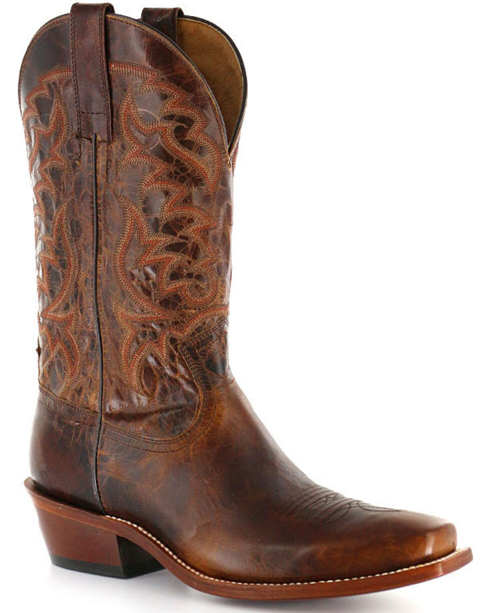 Moonshine Spirit Men's Square Toe Western Boots, Brown, hi-res