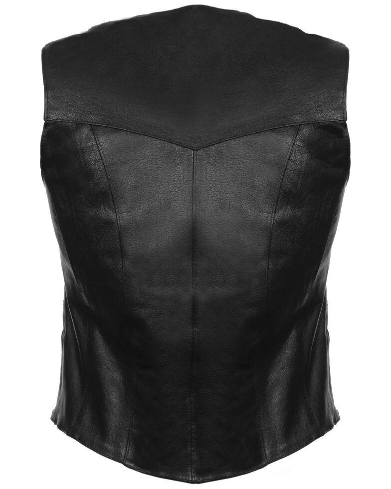 Milwaukee Leather Women's Classic Four Snap Vest - 5XL, Black, hi-res