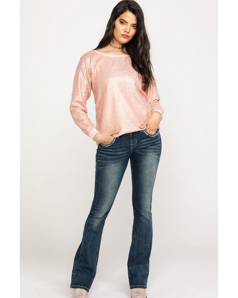 Ariat Women's Golden Rose Sweatshirt, Pink, hi-res