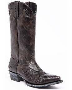 Moonshine Spirit Men's Lardin Western Boots - Snip Toe, Black, hi-res