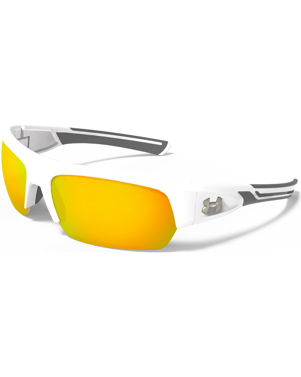 Under Armour Big Shot Polarized Sunglasses , White, hi-res