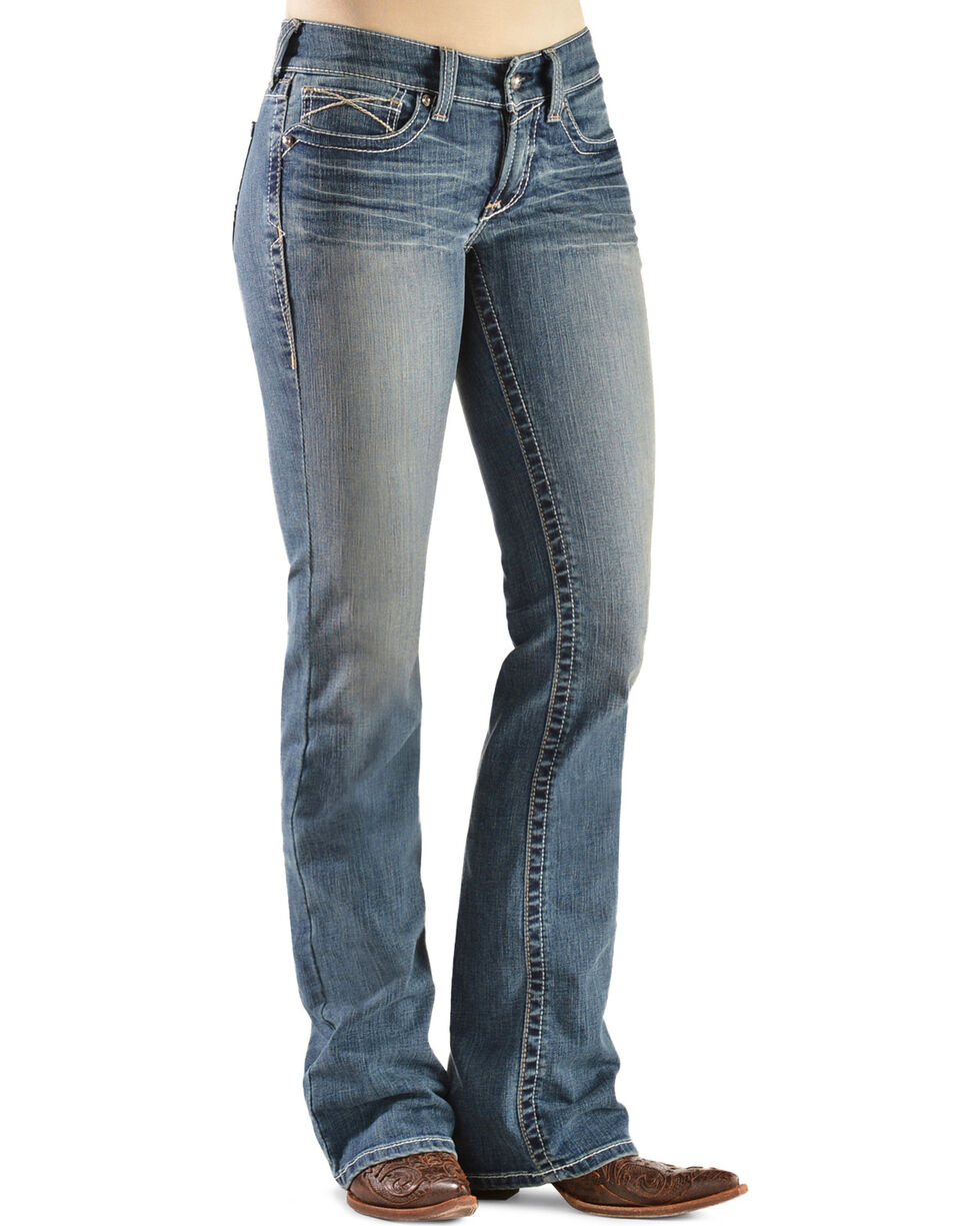 Ariat Women's Rainstorm Boot Cut Riding Jeans, Denim, hi-res