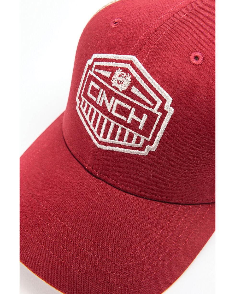 Cinch Men's Red Trucker Cap, Red, hi-res