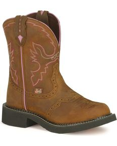 "Justin Women's Gypsy Collection 8"" Western Boots, Aged Bark, hi-res"