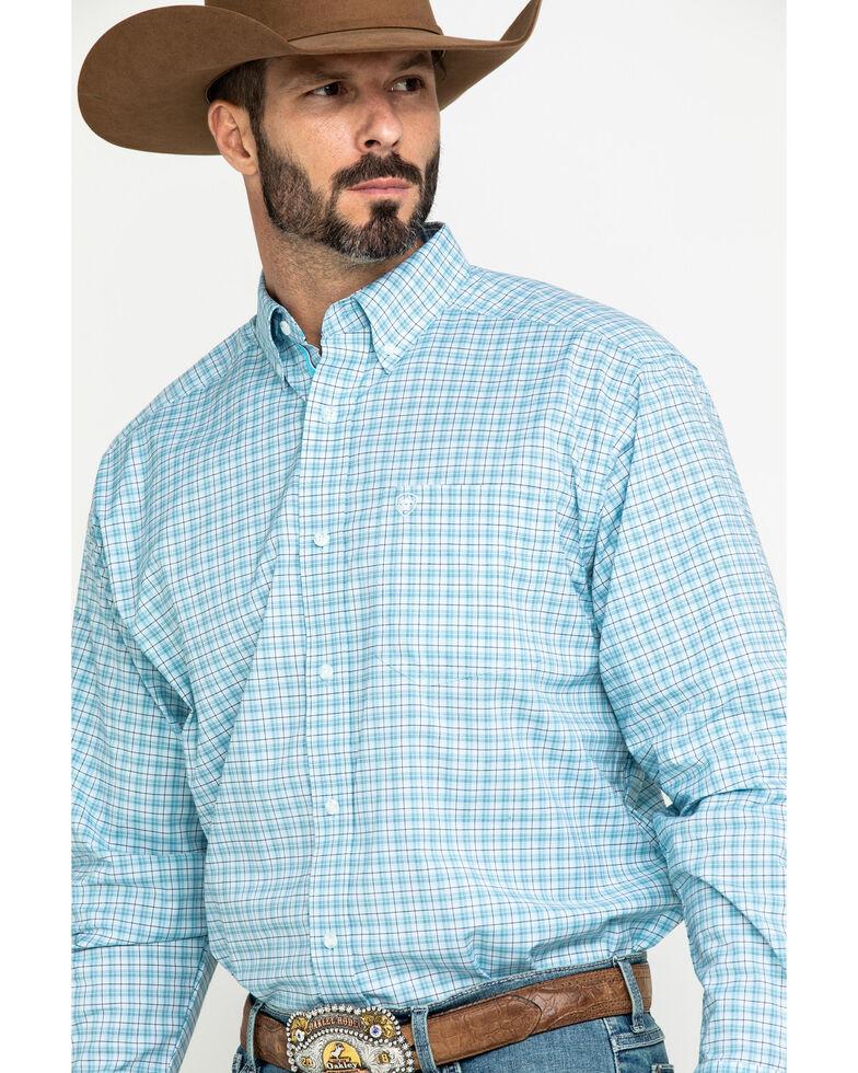 Ariat Men's Lee Stretch Plaid Short Sleeve Western Shirt , , hi-res