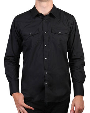 Gibson Trading Co. Men's Black Lava Long Sleeve Snap Shirt - Big & Tall, Black, hi-res