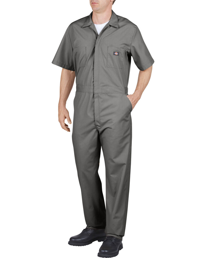 Dickies Short Sleeve Work Coveralls, Grey, hi-res