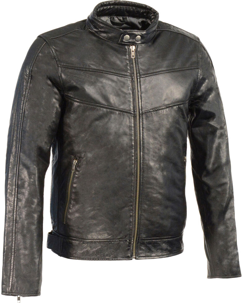 Milwaukee Leather Men's Stand Up Collar Leather Jacket - 4X Big , , hi-res