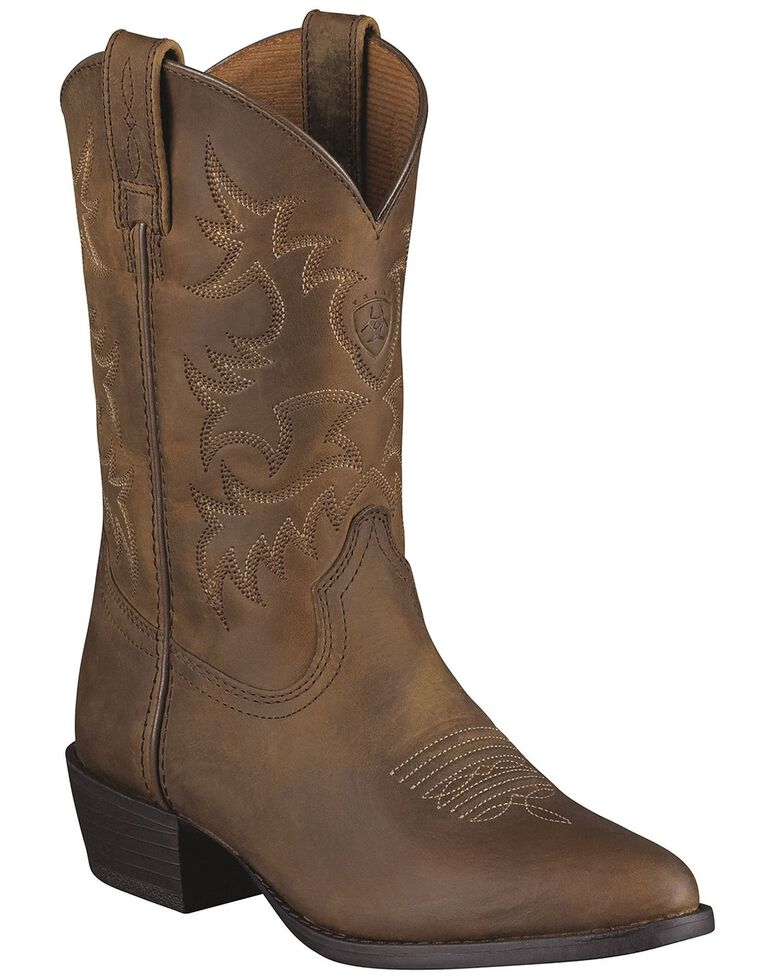 Ariat Children's Heritage Western Boots, Brown, hi-res
