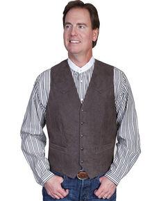Scully Men's Frontier Leather Vest, Brown, hi-res