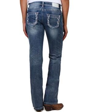 Shyanne® Women's Light Stitch Boot Cut Jeans, Blue, hi-res